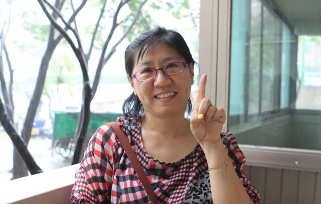 환하게 웃으시는 김유진 후원가족님의 사진